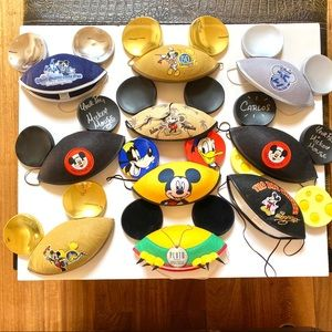 Collection of Disney Mickey Ear Hats Various Years